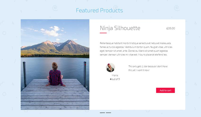 A Sample of WooCommerce Featured Product Slider