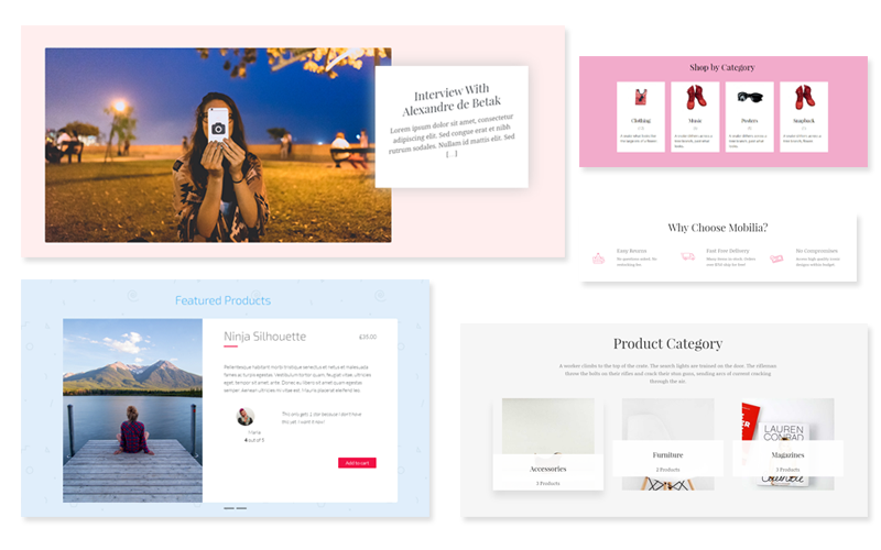 Bellini WordPress Theme layouts